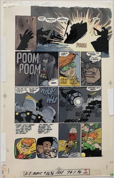 Lynn Varley painted colors on Batman: Dark Knight Returns (larger view)